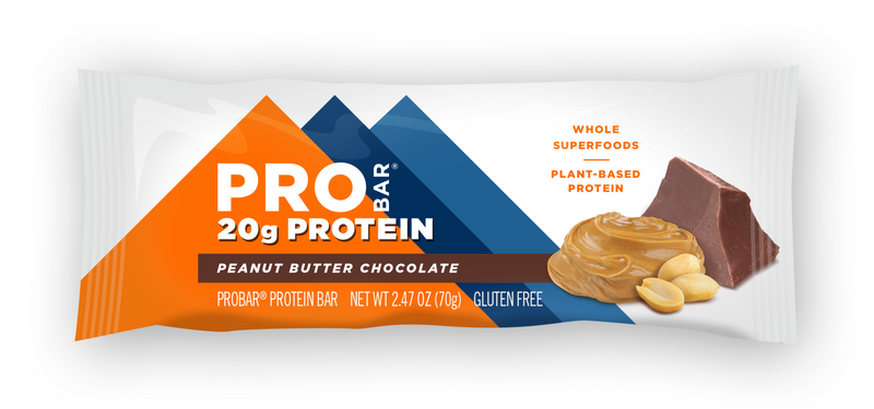ProBar | Peanut Butter Chocolate Base Bar, 2.47oz | 12-Pack
