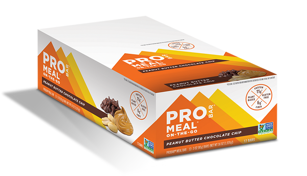 ProBar | Peanut Butter Chocolate Chip Meal Bar, 3oz | 12-Pack