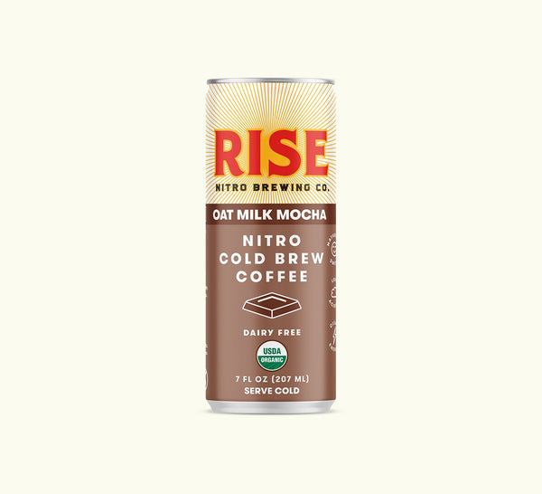 Rise Brewing Co. | Oat Milk Mocha Nitro Cold Brew Latte, 7oz | 12-Pack