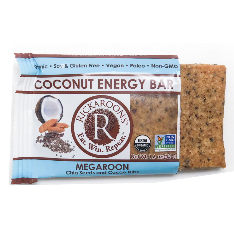 Rickaroons | Megaroon Coconut Energy Bar, 1.6oz | 12-Pack
