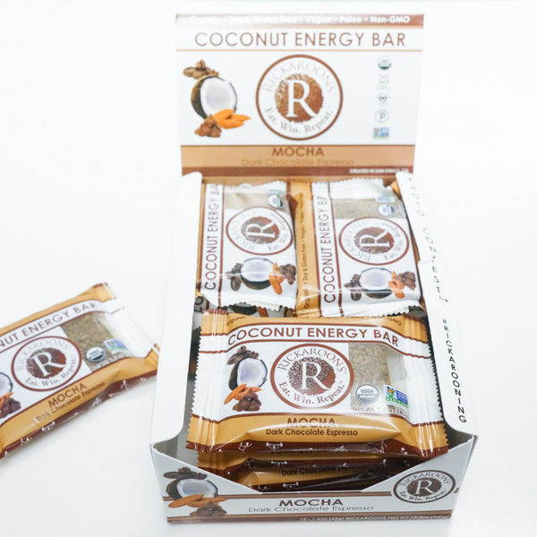 Rickaroons | Mocha Coconut Energy Bar, 1.6oz | 12-Pack