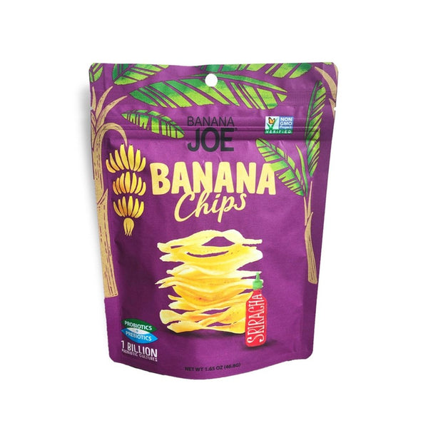 Banana Joe | Sriracha Banana Chips, 1.65oz | 6-Pack