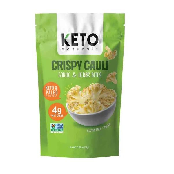 Keto Naturals | Crispy Cauli Garlic & Herb .95oz | 8-Pack