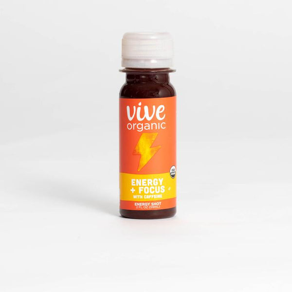 Vive Organic | Energy + Focus with Caffeine Shot, 2oz | 12-Pack