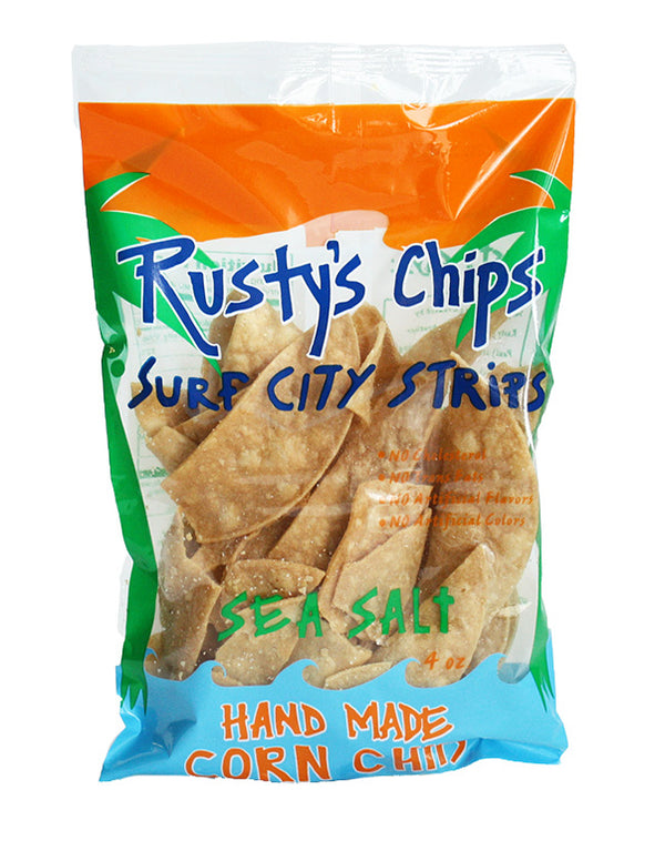 Rusty's | Handmade Sea Salt Corn Chips, 4oz | 6-Pack