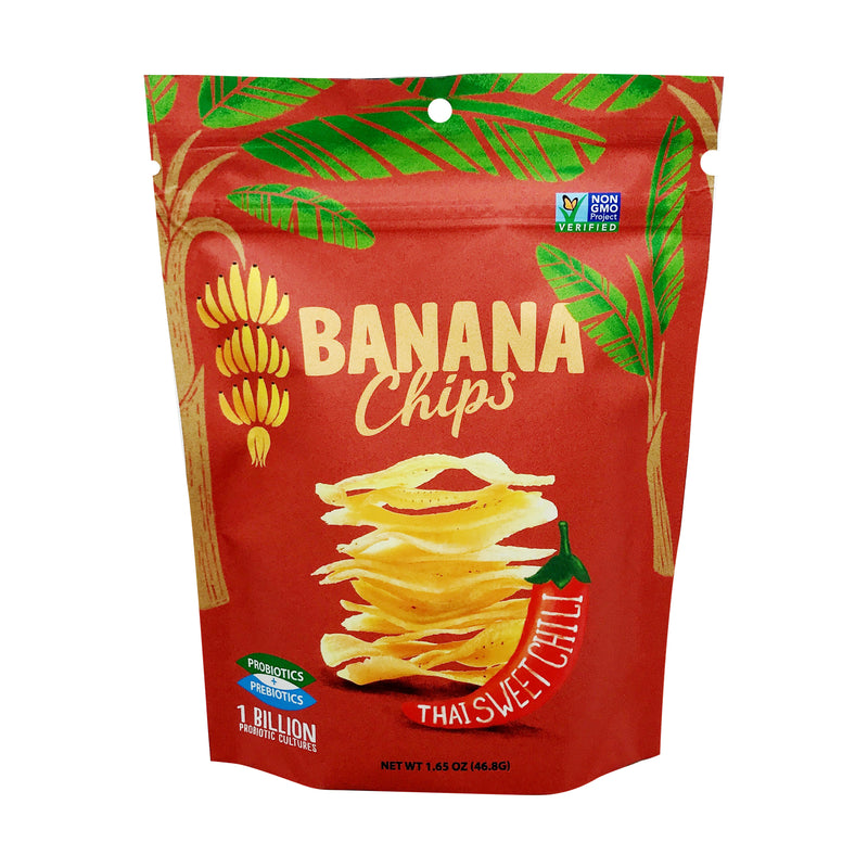 Banana Joe | Thai Sweet Chili Banana Chips, 1.65oz | 6-Pack