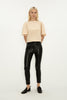 PITCH BLACK LEATHERETTE CADET PANT