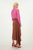 COPPER SUITING ASTOR WRAP SKIRT