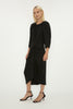 BLACK CREPE ARORA DRESS