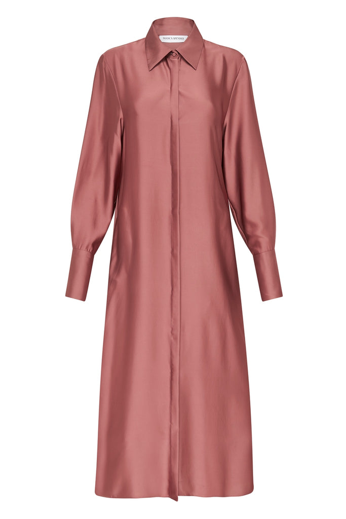 MAPLE TRIACETATE PASTEL SHIRT DRESS