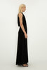 BLACK JERSEY ENTWINED LONG DRESS