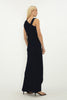 NAVY CREPE DEVIATION GOWN