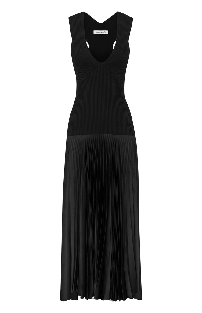 BLACK KNIT VIONET GOWN