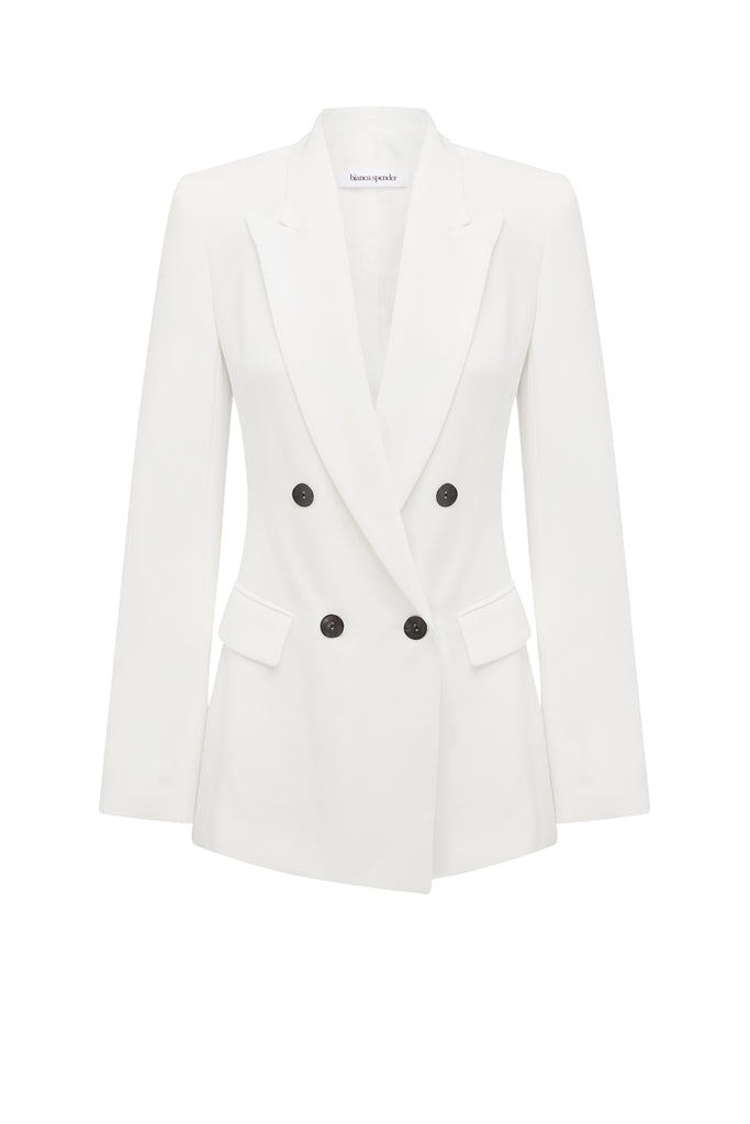 WHITE CREPE ESQUIRE JACKET