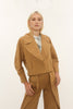 SAND LINEN TWILL BOWER JACKET