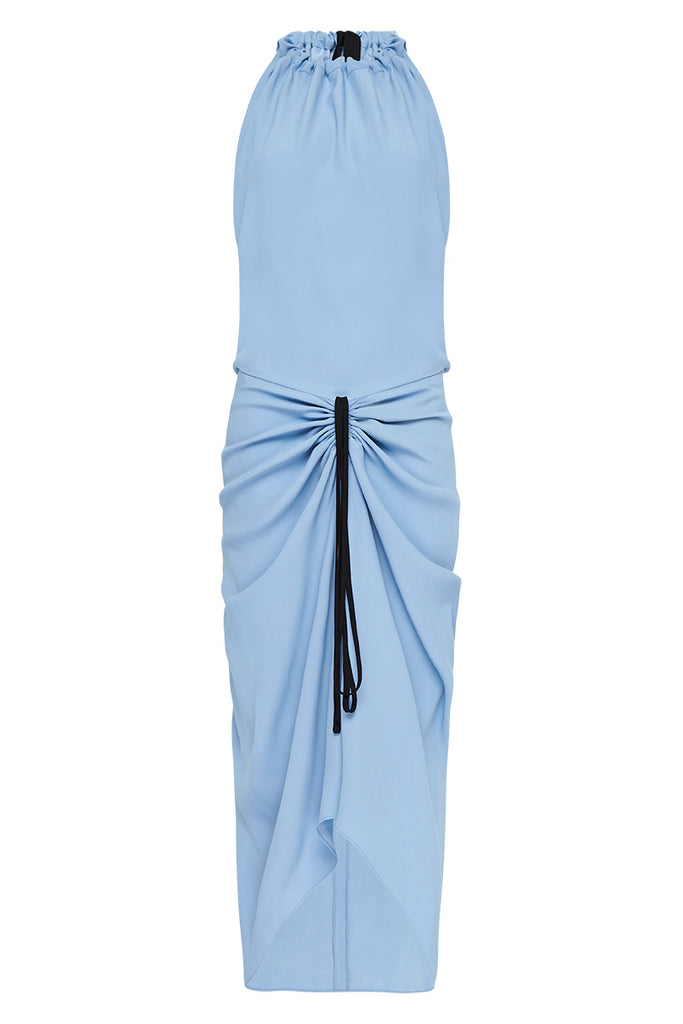 WINDSOR BLUE CREPE MAJORCA DRESS