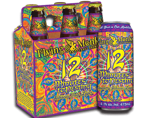 Flying Monkeys 12 Minutes to Destiny Raspberry Lager (Can) - 473ml - 4.1%