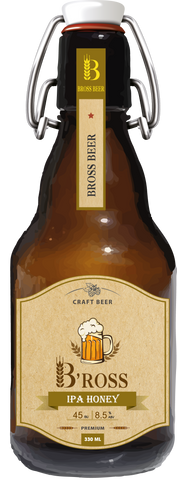 Bross Honey IPA - 330ml - 8.5%