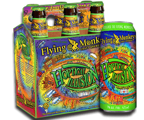 Flying Monkeys Hoptical Illusion Pale Ale (Can) - 473ml - 5%