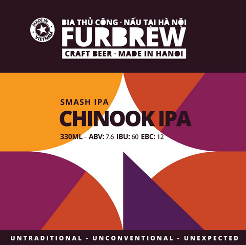 Furbrew Chinook IPA - Smash IPA - 330ml - 7.6%