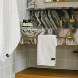 CLIVE HAND TOWEL - WHITE