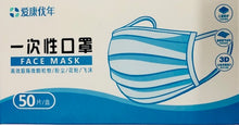 Load image into Gallery viewer, 3 Ply Disposable Face Masks - 50 Masks - CE Approved