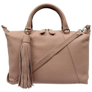 BLUSH LEATHER HANDBAG