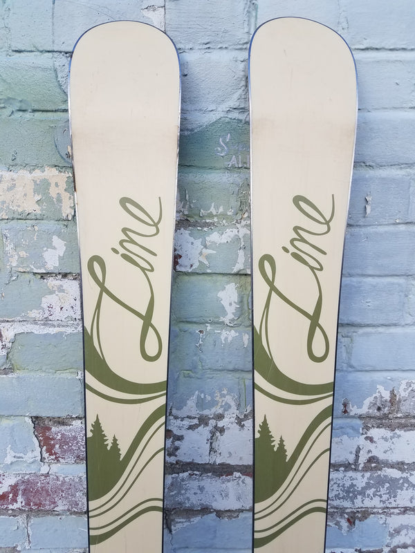 Line Alpine Skis - Wood, 158 cm