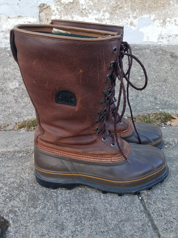Sorel Pack Boots - Brown, M 11