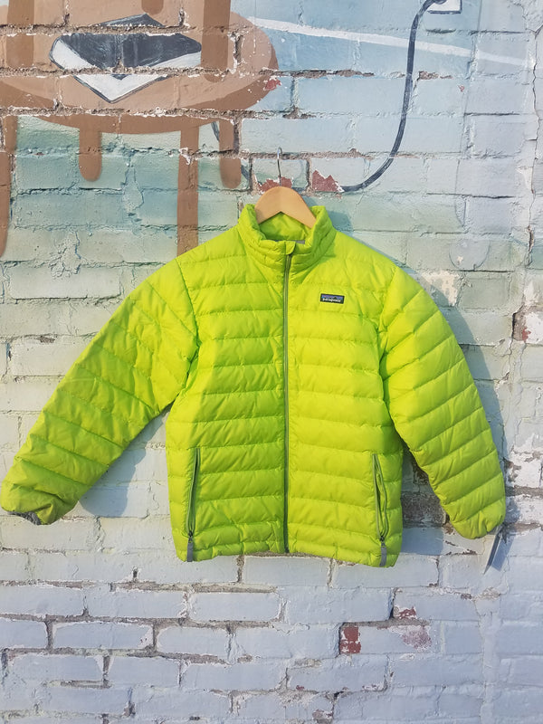Patagonia Puffy Coat - Lime, Y Large