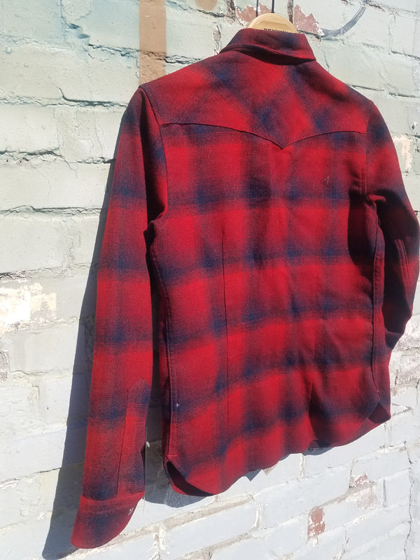 Pendleton Shirt - Red Plaid, W Medium