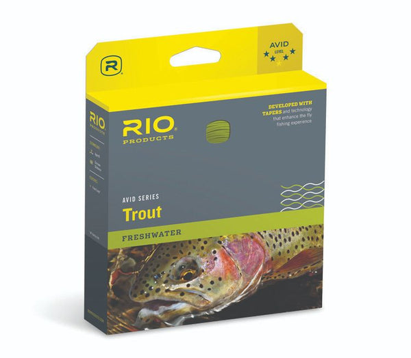 RIO Avid Series Trout Fly Line - Pale Yellow, WF5F, 90 Ft