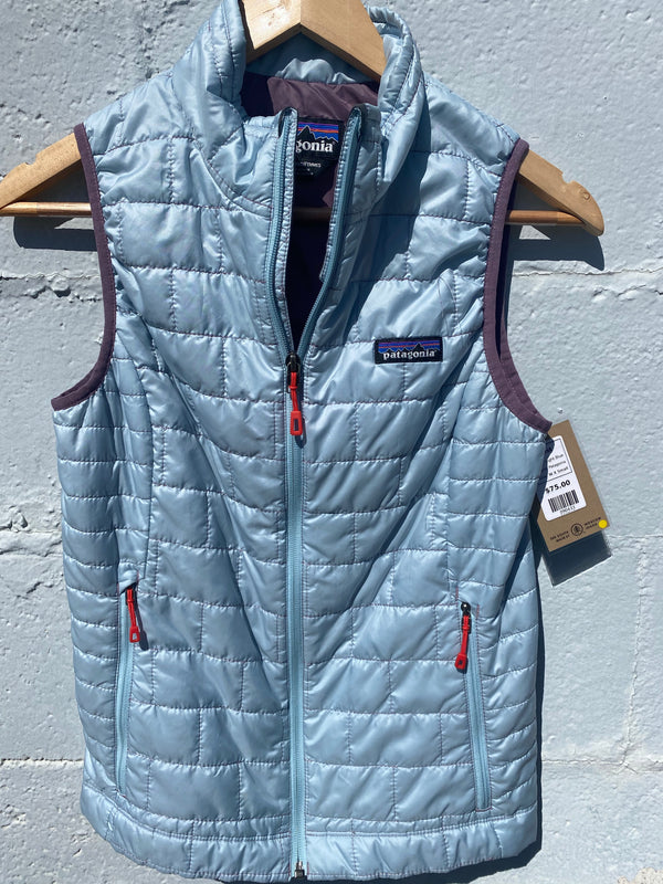 Patagonia Vest - Light Blue, W X Small