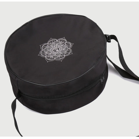 Yoga Wheel Bag Nylon Black Mandala
