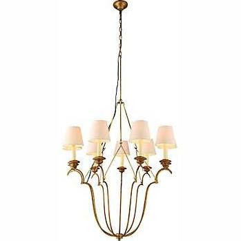 Elegant Lighting Dominion 9 Light Foyer Pendant; Golden Iron 1439D33GI