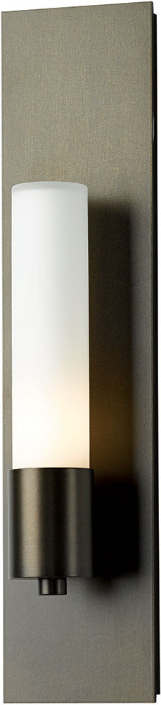 Pillar 1 Light Sconce Hubbardton Forge Base Item #204420-08-GG Burnished Steel