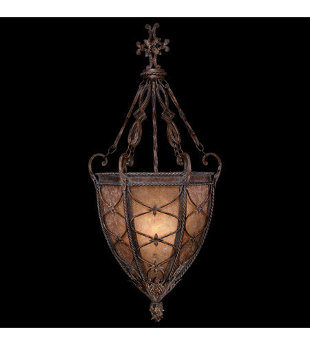 Fine Art Lamps Casa di Campagna 3 Light Pendant in Aged Wrought Iron 205942ST