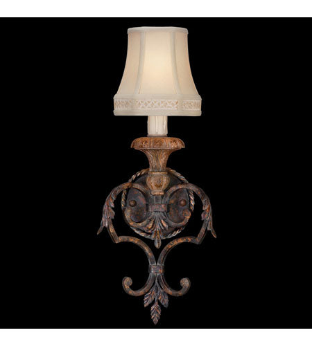 Fine Art Lamps Casa Di Campagna 1 Light Sconce In Aged Wrought Iron 208950st