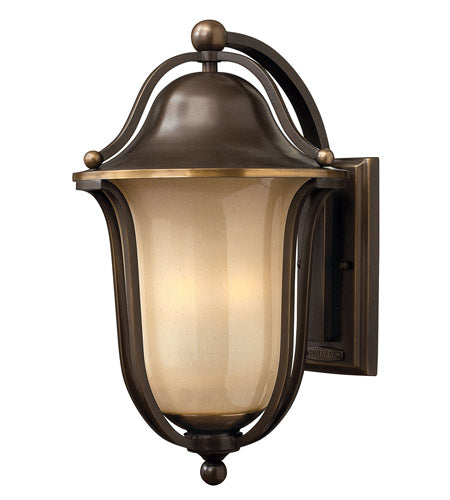 Hinkley 2635OB Bolla 19'' Olde Bronze Outdoor Wall Mount, Light Amber Seedy Glass