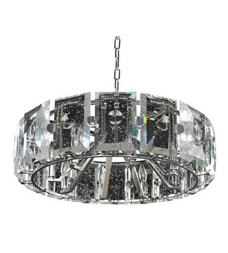 Kalco 390452SL Giada 8 Light 27 inch Stainless Steel Pendant Ceiling Light