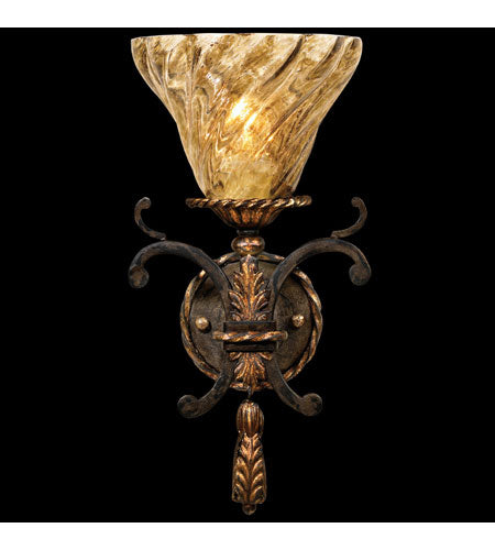 Fine Art Lamps Epicurean 1 Light Sconce in Charred Iron 407750ST