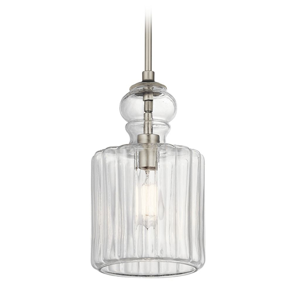 Rivera Collection Riviera 1 Light Pendant NI 43954NI (Brushed Nickel)