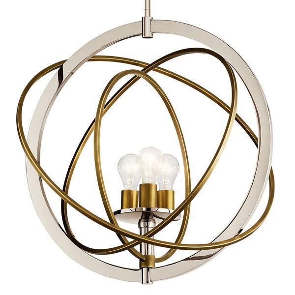 Kichler Ibis 3 Light Medium Pendant Polished Nickel 44202PN