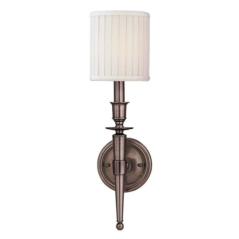 Hudson Valley Lighting Abington 1 Light Wall Sconce In Antique Nickel  4901 AN