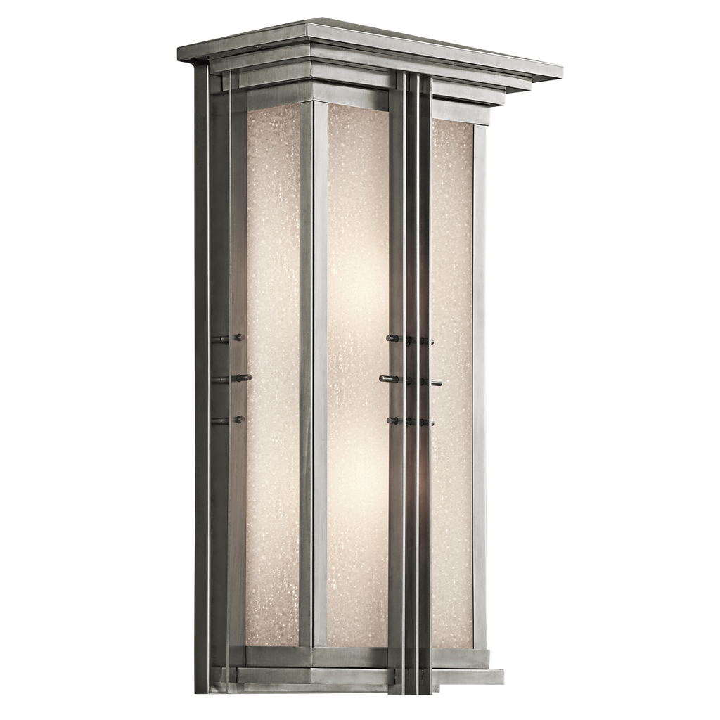 Portman Square Collection Portman Square 2 Light Outdoor Wall Light - SS 49160SS (Stainless)