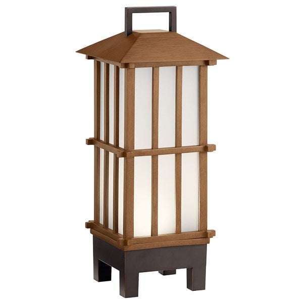 Kichler Davis Portable Bluetooth LED Lantern Bamboo Wood 49247BWFLED