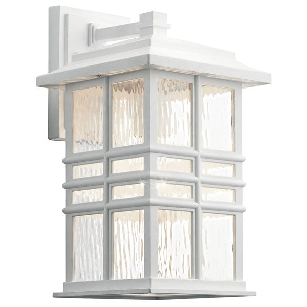 "Kichler Beacon Square 12"" 1 Light Wall Light White Climates™ 49829WH"
