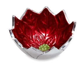 "Julia Knight Poinsettia 5"" Bowl Pomegranate #5185040"