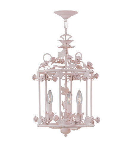 Crystorama Paris Flea Market 3 Light Pendant in Blush 5813-BH