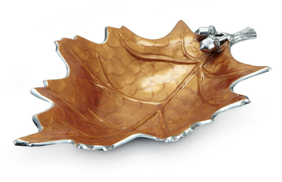 "Julia Knight Oak Leaf 18"" Bowl Spice #6740043"